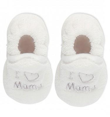 Prenatal unisex slofjes 'I love mama'