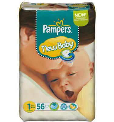 Pampers New Baby urine indicator