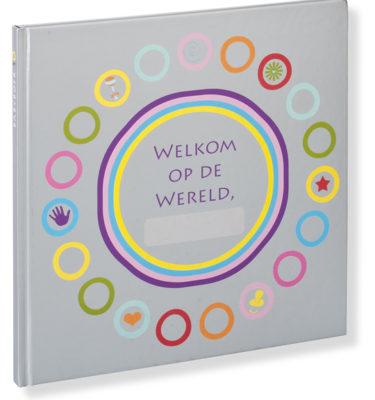 Babyboek welkom op de wereld  silver