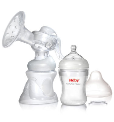 Nuby Natural Touch 2 in 1 borstkolf
