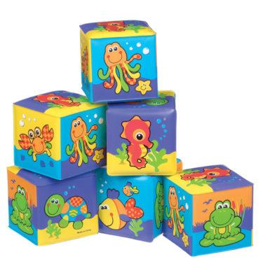 Playgro bath soft cubes