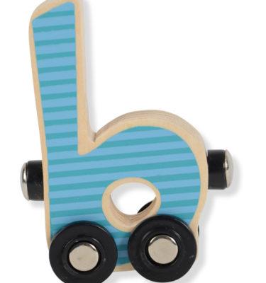 Prénatal houten namentrein letter B