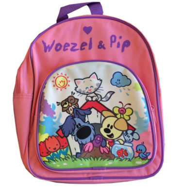 Woezel & Pip rugtas roze