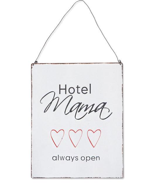 Wandplaat metaal Hotel Mama