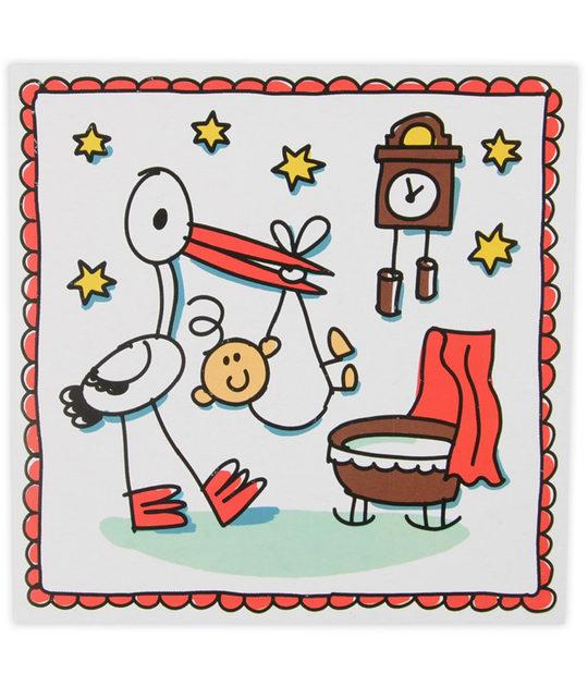 Babette 6 uitnodigingen met envelop