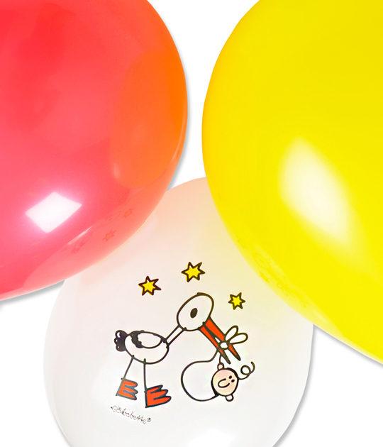 Babette ballonnen 6 stuks