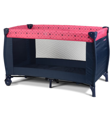 Prenatal campingbed Girls flower