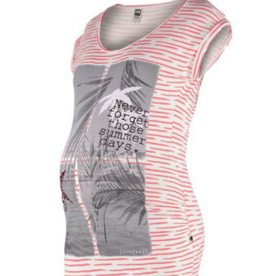 Love2wait zwangerschaps T-shirt summer days