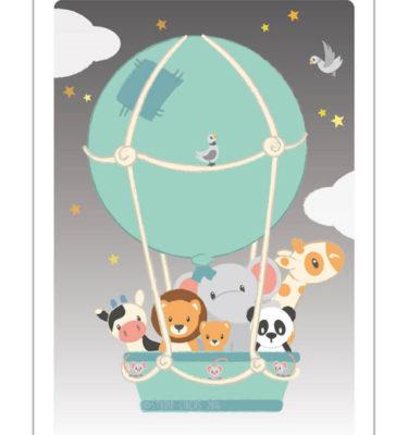 Studio Circus Poster luchtballon